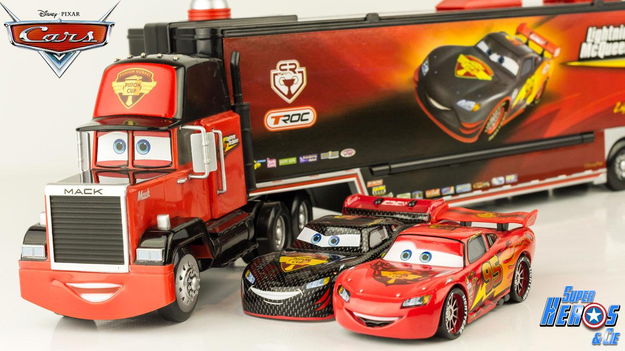 super h ros et compagnie disney cars carbon racer mack truck lanceur flash mcqueen camion. Black Bedroom Furniture Sets. Home Design Ideas