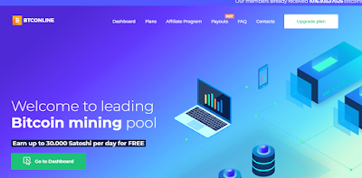 Mining Bitcoin Gratis Di BTConline, Yuk Buruan Daftar