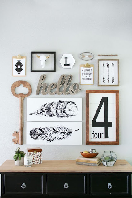 Tips and inspiration to create the perfectly eclectic gallery wall!  Littlehouseoffour.com
