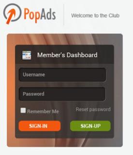 pop ads 6amgj Cara mudah Daftar dan Menghasilkan Uang dari PopAds