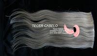 Aplique cabelo loiro com castanho  46 cm Tecer cabelo
