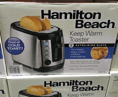 Start your day off right with a breakfast made from the Hamilton Beach 22811e Keep Warm Toaster