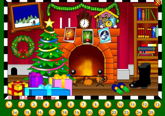 http://www.jeannedelalune.co.uk/advent/Advent_Calendar_French.html