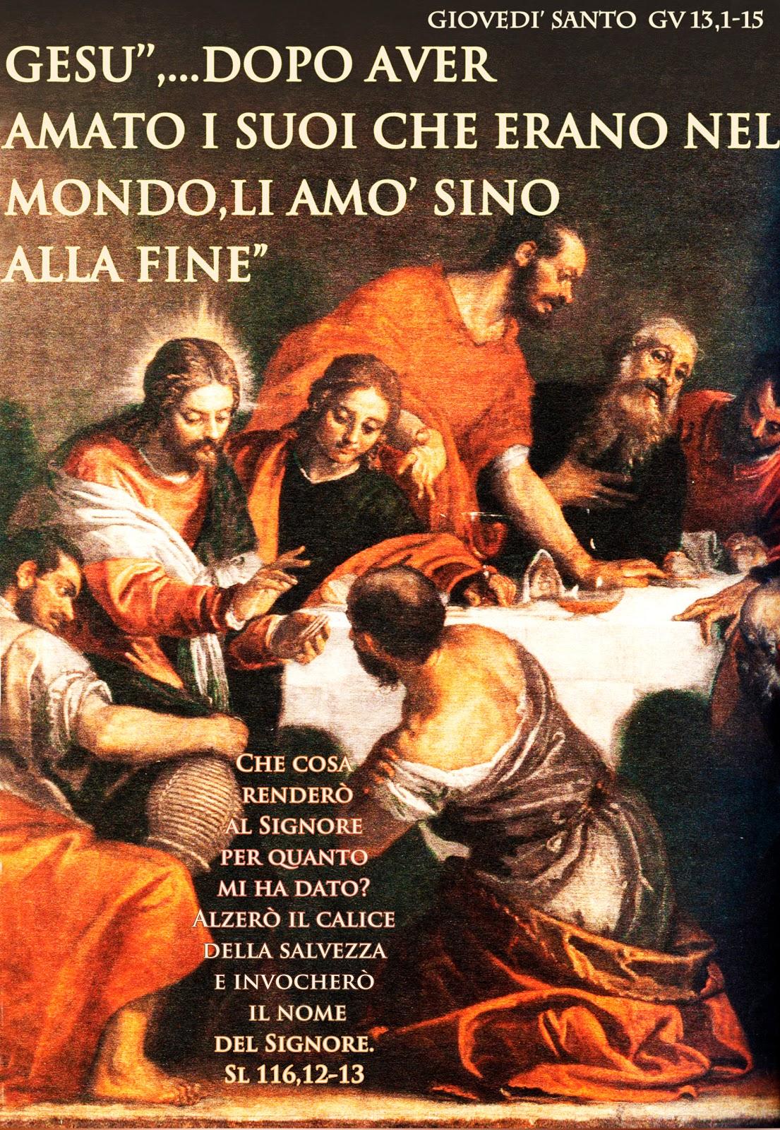 PAROLA Anno Liturgico C: GIOVEDI' SANTO