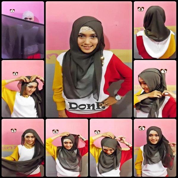 model jilbab segi empat untuk acara resmi
