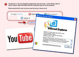 YouTube engineers conspired to ended IE6