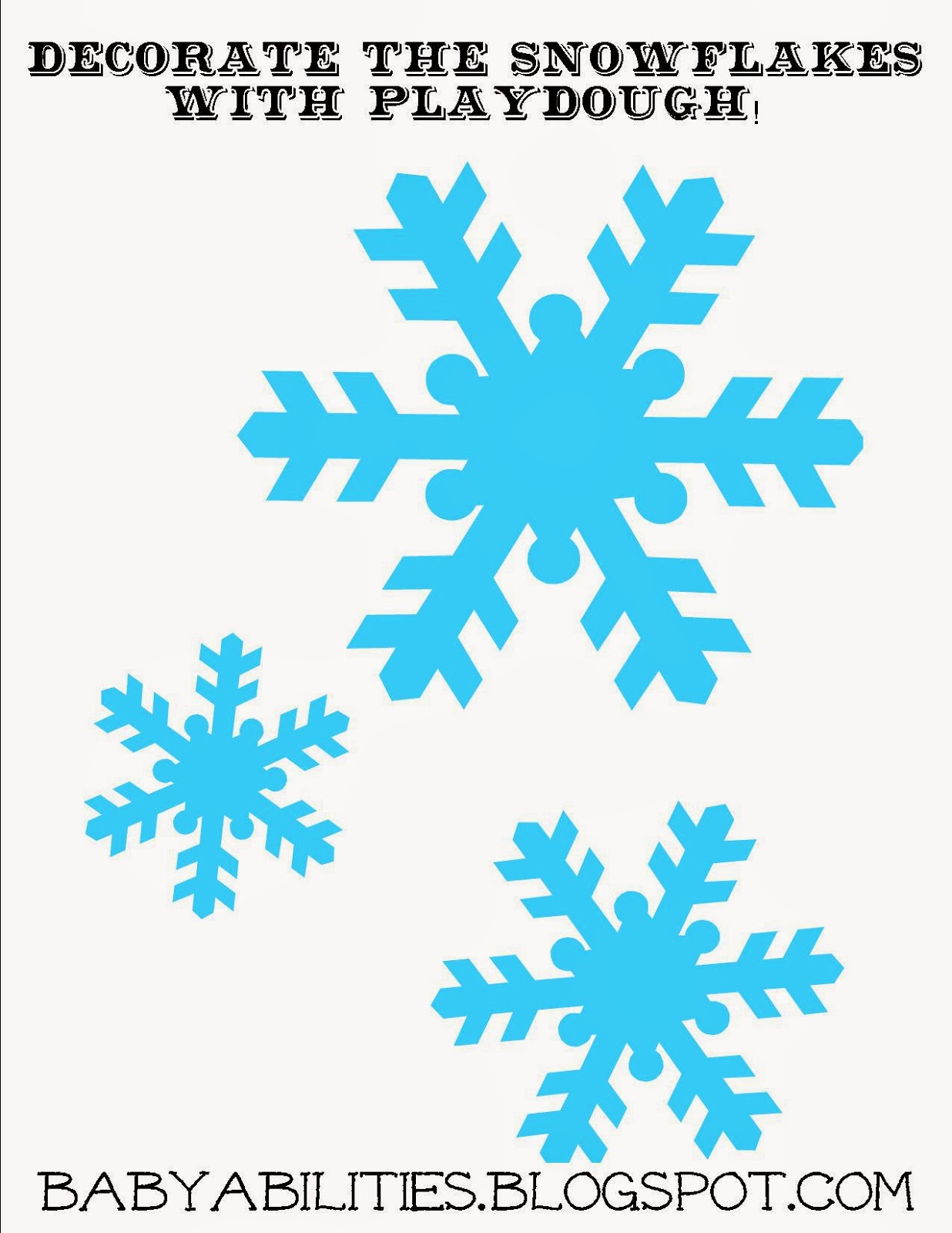Snow Flake Worksheet | Printable Worksheets and Activities for