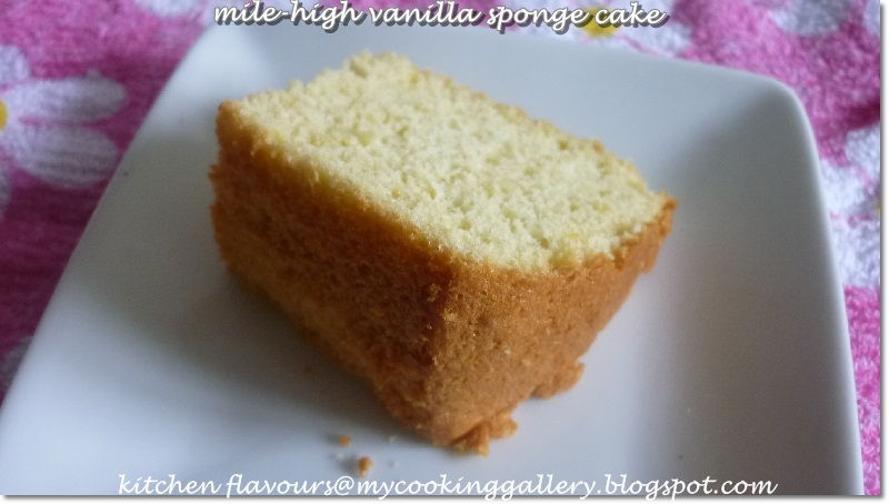 How Much Does Sponge Cake Rise