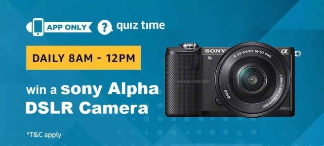 amazon-quiz-answers-15-january-win-sony-alpha-dslr-camera