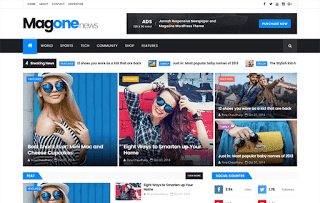 MagOne News Blogger Template