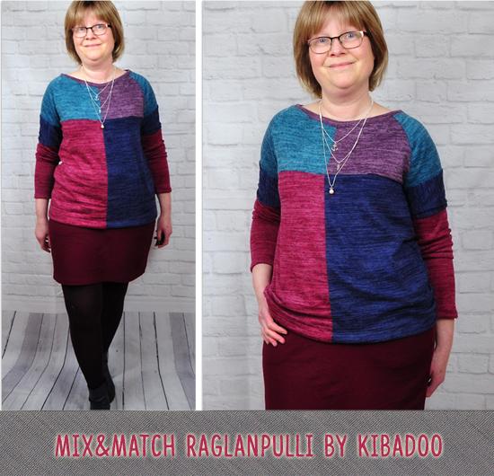 Mix&Match Raglanpulli by Kibadoo