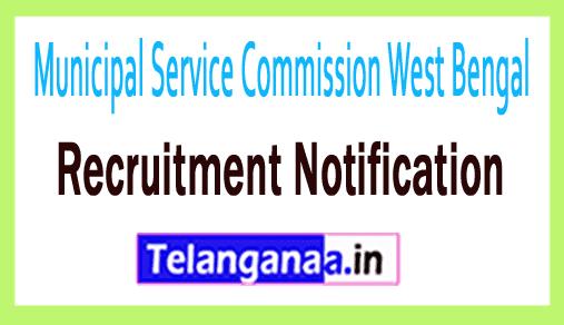 Municipal Service Commission West Bengal MSCWB Recruitment Notification