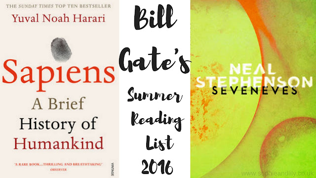 Bill Gate's summer reading list 2016 includes Sapiens and Sevenses
