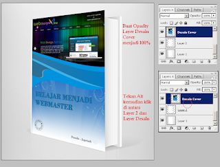 Cara Membuat Mockup Cover Buku di Photoshop, cara membuat gambar satu masuk ke gambar lain di photoshop