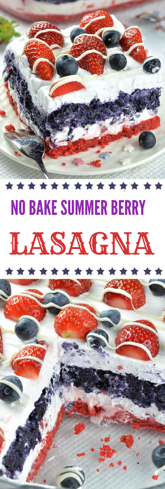 No-Bake Summer Berry Lasagna