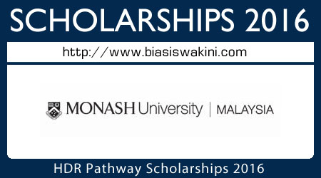 HDR Pathway Scholarships 2016