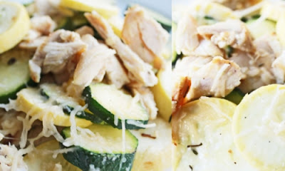 Healthy Chicken, Zucchini and Parmesan Melt Recipe. Health Nutrition, Food Health Nutrition