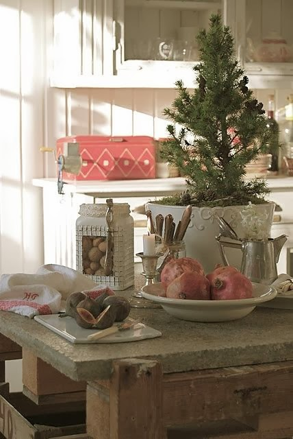 Kitchen Christmas Decorating Ideas: Shabby In Love: Christmas Kitchen Decor Ideas