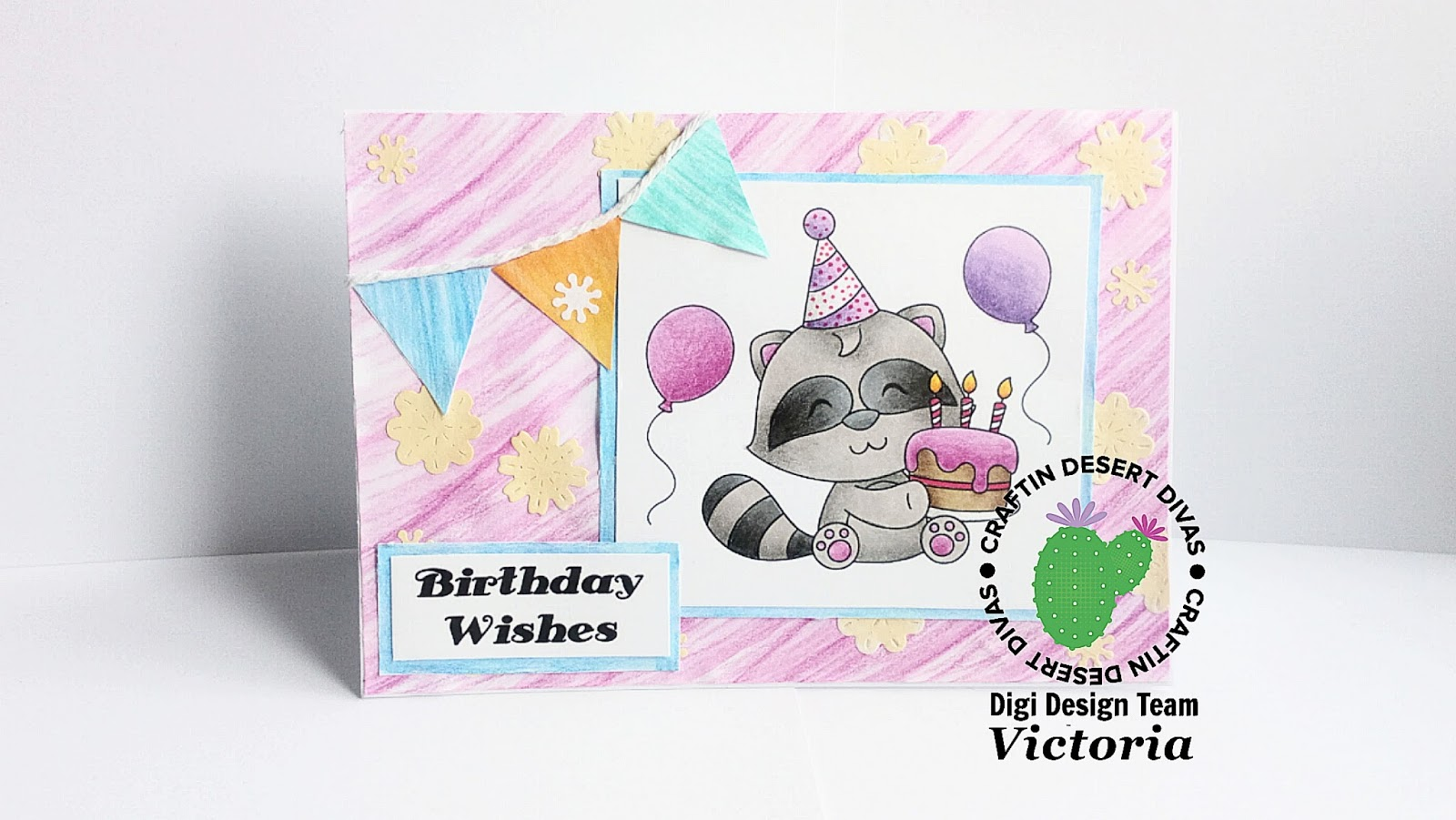 Victorias Crafting Creations Cdd Raccoons Birthday Surprise Card