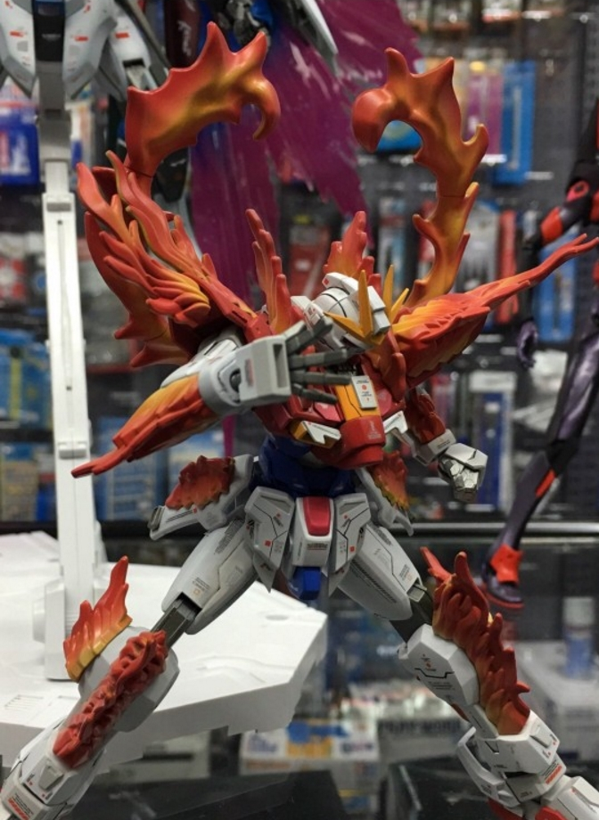Custom Build: HGBF 1/144 Try Burning Gundam VS Denial Gundam