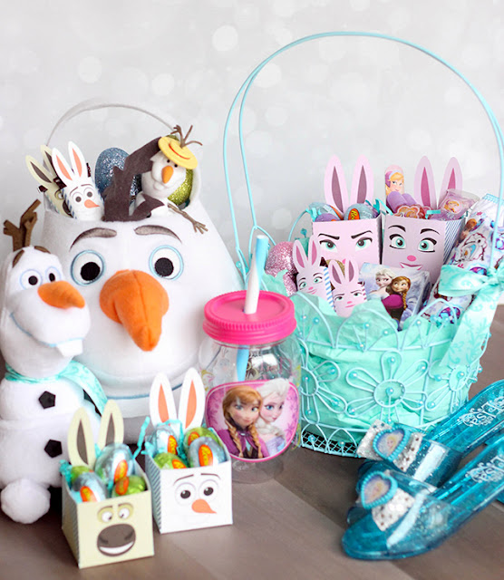 Frozen Easter: Free Printable Boxes and Wrappers.