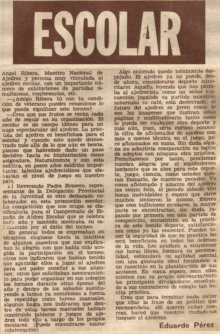 """Recorte del diario """"Dicen…"""" - 1972"""
