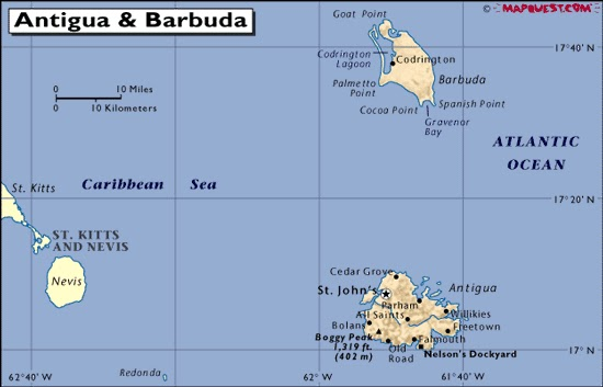 Antigua e Barbuda   Mapas Geográficos de Antigua e Barbuda