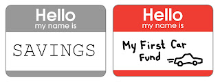 Savings Name tags