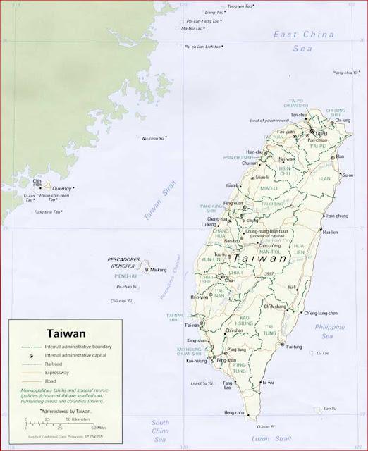 Gambar Peta politik Taiwan