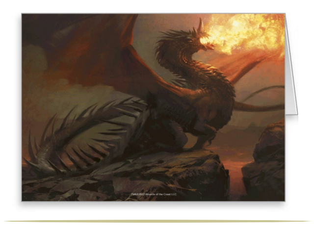 Magic the Gathering Dragon Artist Greeting Card |  9CoolThings.com