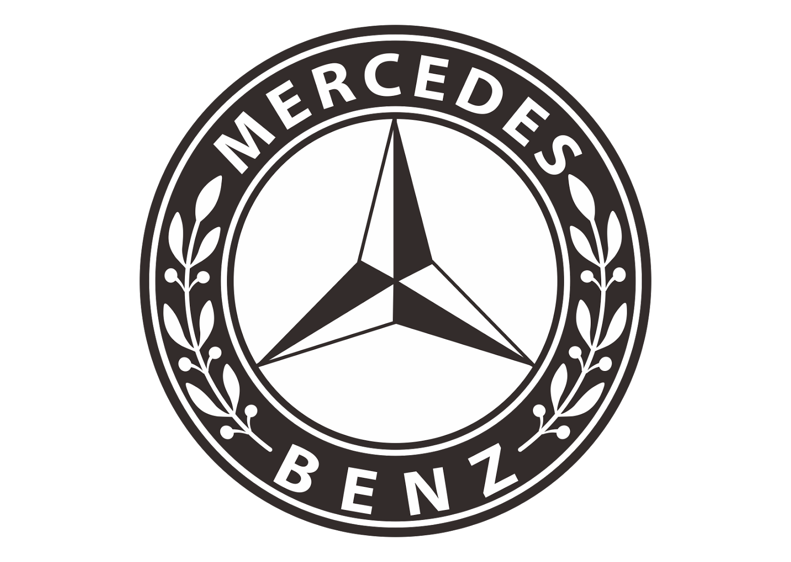 Mercedes Benz Logo Vector (design Part 2)~ Format Cdr, Ai