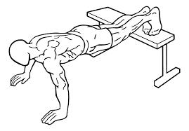 Feet elevated push-up