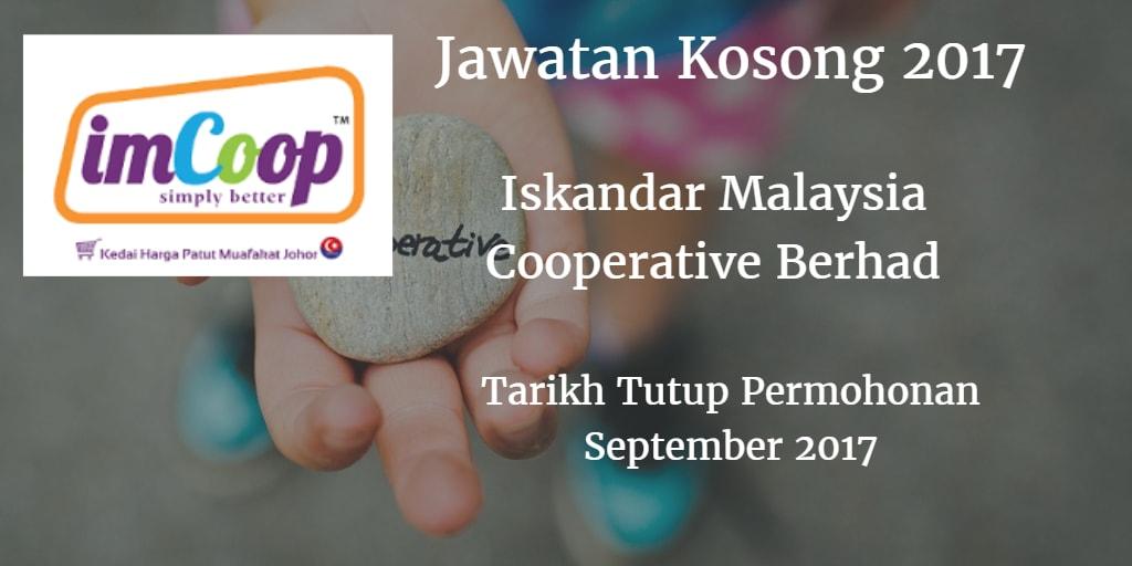 Jawatan Kosong ImCoop September 2017