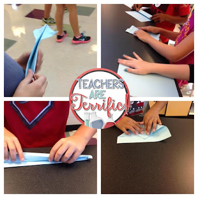 STEM Challenge: Paper airplanes! Kids test many versions by launching and recording flight distances. Planes are modified many times and then all the data is analyzed. Finally, the best version of a plane is produced! Will it fly the longest distance?