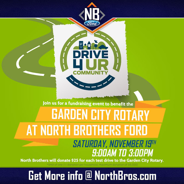 Drive 4 the Garden City Rotary at North Brothers Ford
