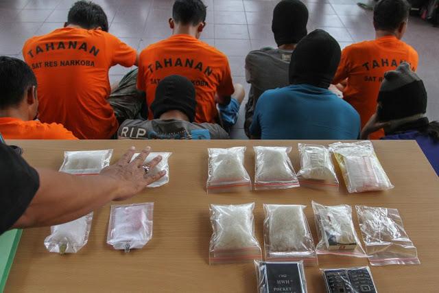 Polisi Berhasil Amankan 86 Kilogram Sabu-sabu