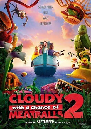 Cloudy with a Chance of Meatballs 2 2013 BRRip 1080p Dual Audio In Hindi English