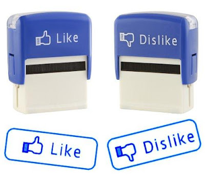 Like & Dislike Self Inking Stamps Set