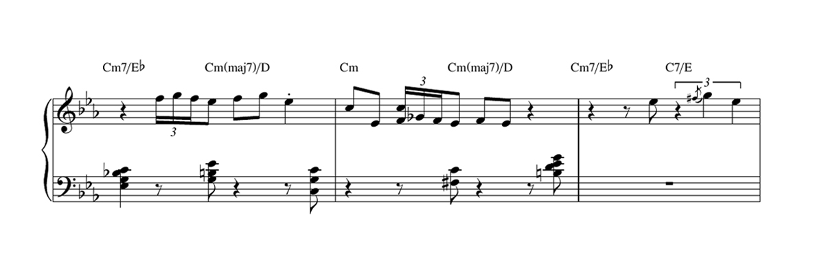 Piano/Keyboard Transcription Sheet Music Notation Sample
