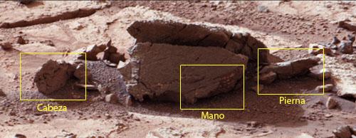 ¿El fósil de un alienígena en una imagen de la Curiosity?