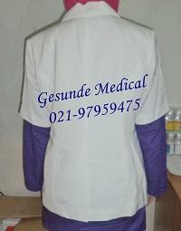 Baju Dokter Model Lengan Pendek