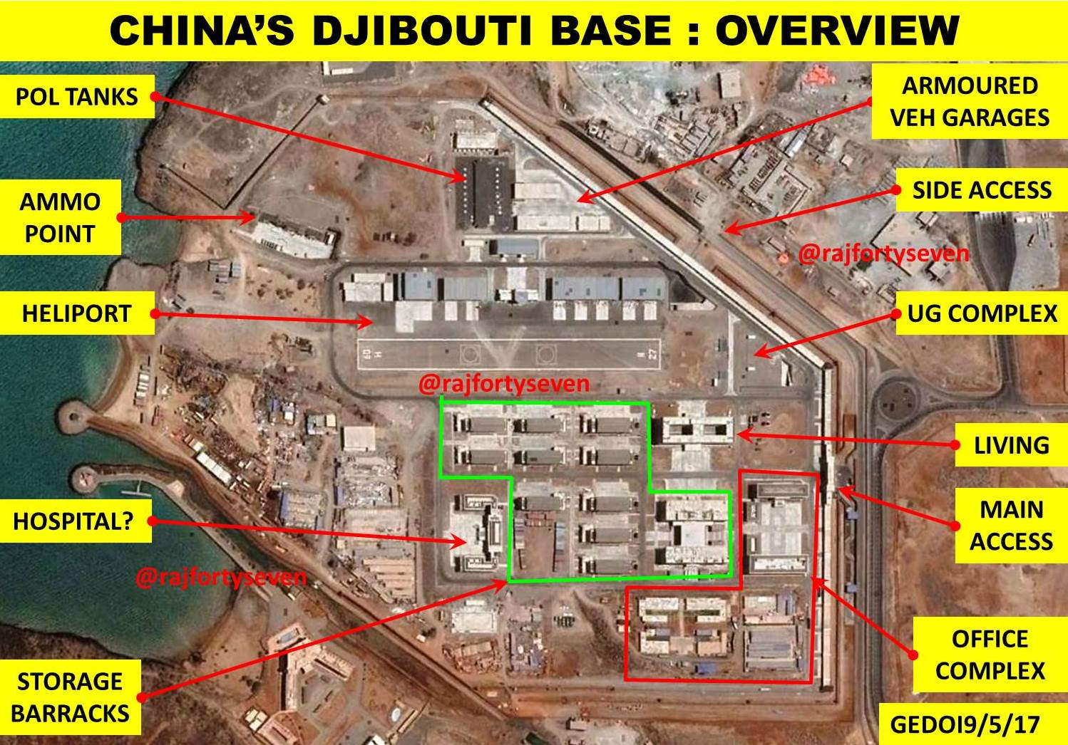 the people s liberation army pla of china has opened its first overseas base at djibouti in the strategically located horn of africa