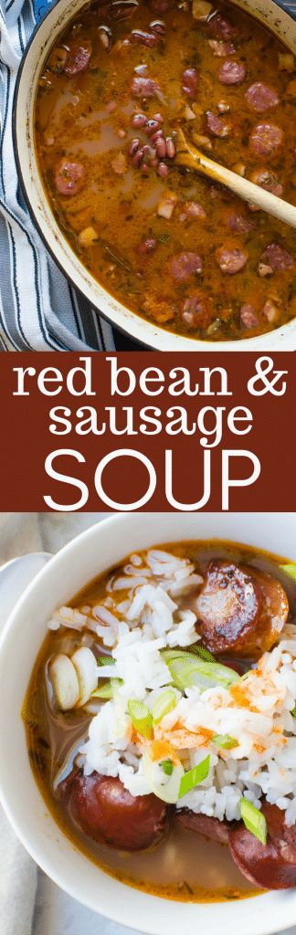 SAUSAGE AND RED BEAN SOUP