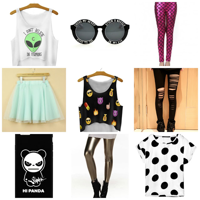 giveaway win fashion alien cross my heart sunglasses mermaid tutu emoji panda ripped grunge pastel goth scene emo punk