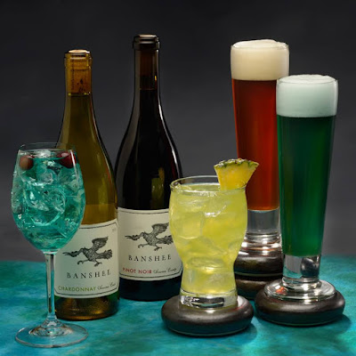 Dreamwalker Sangria, Banshee Wines, Pandoran Sunrise, Hawkes' Grog Ale, Mo'ara High Country Ale