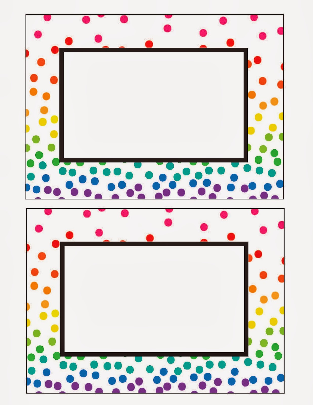 Everyday Art Rainbow Party Printables Free