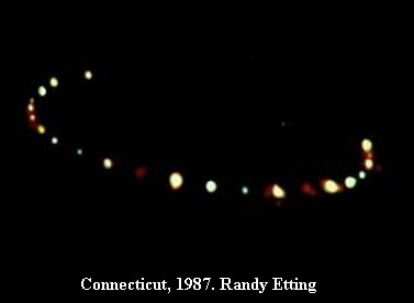 UFO alien sightings Connecticut, USA