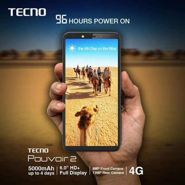 Tecno Pouvoir 2 is one of the best smartphone with long last battery capacity
