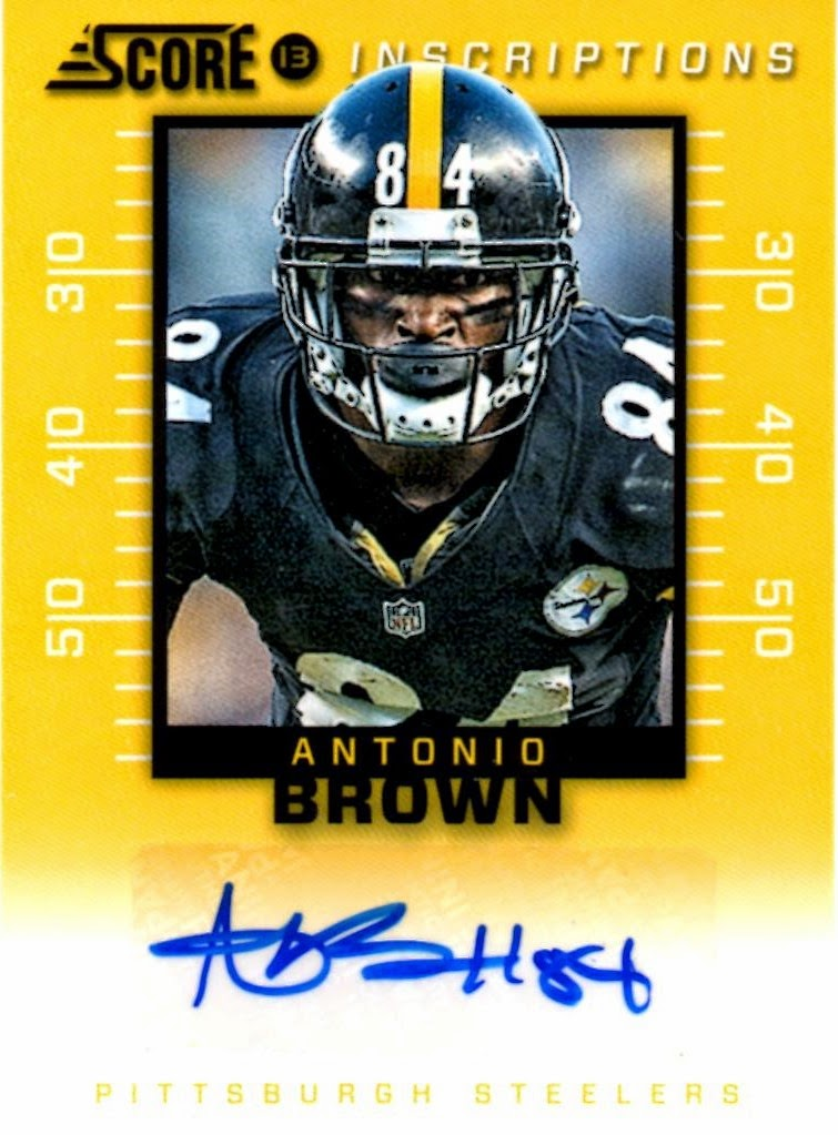Last month I showed off a gorgeous relic of Antonio Brown which marked my  first and now I am going to show off my 1st Antonio Brown auto. f3dec1ed7