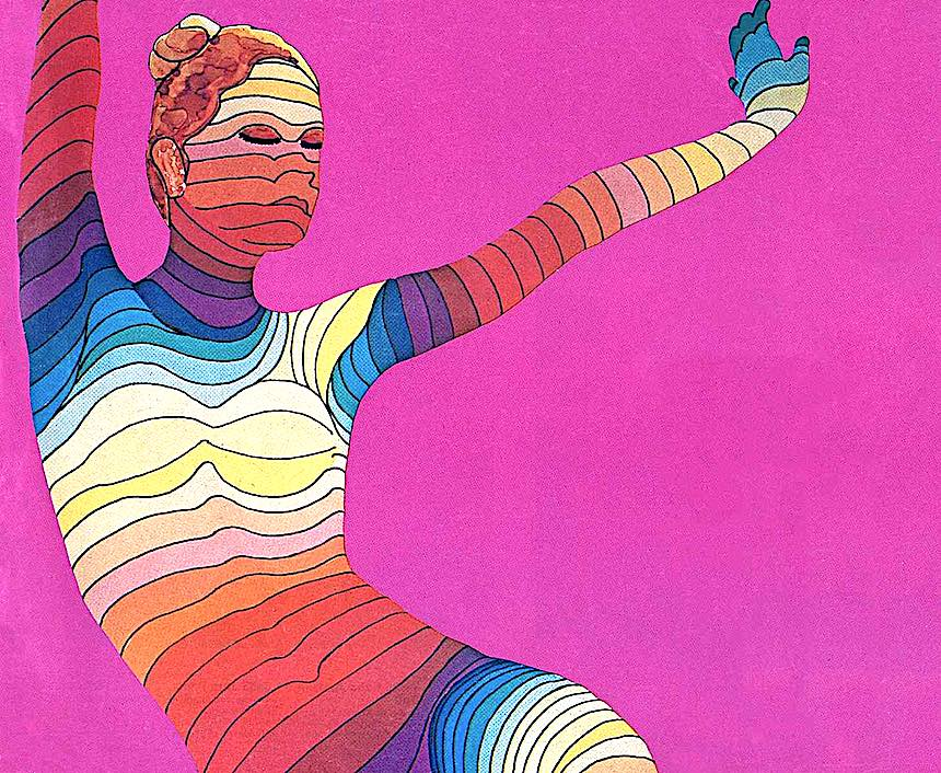 psychedelic dance illustration